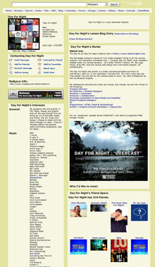 Day For Night artists and music pages on MySpace