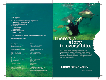BBC Motion Gallery Printed Brochure