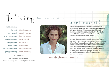 Site Development :: Felicity.com - Keri Russell, Scott Foley, Scott Speedman, Greg Grunberg