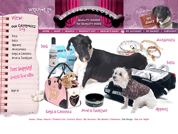 Gracies Closet - haute-couture online doggie boutique E-Commerce