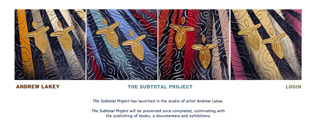 "Andrew Lakey ""The Subtotal Project"""