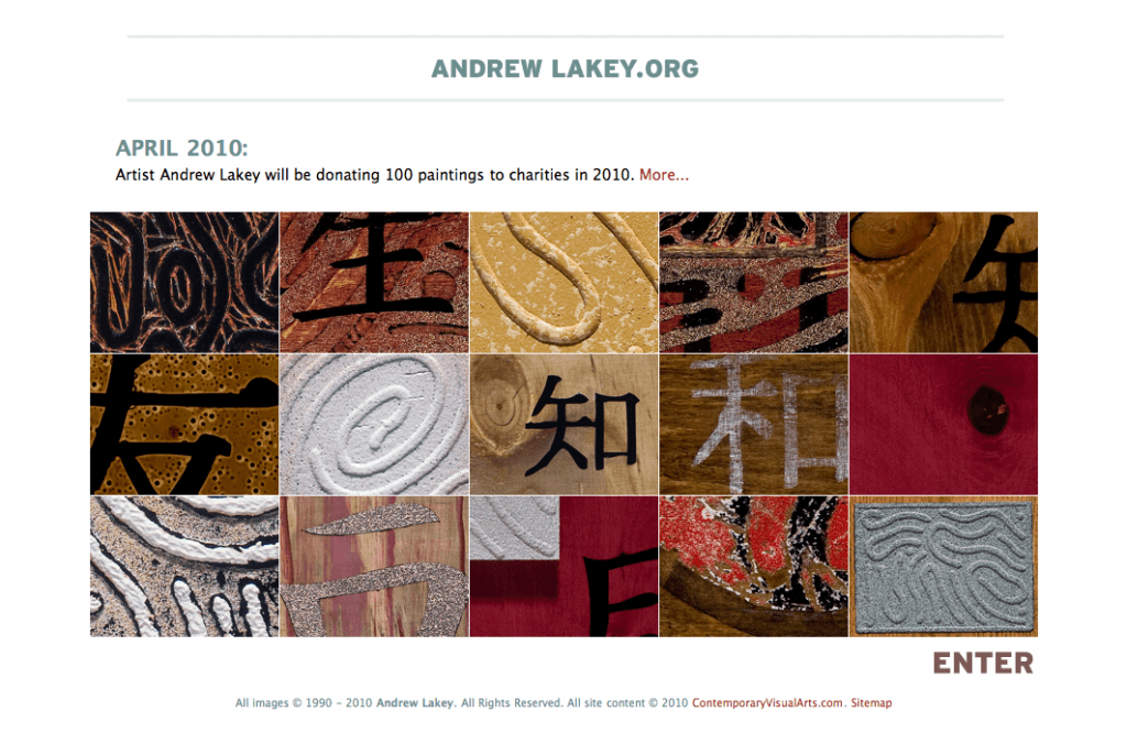 Andrew Lakey.org mini-site - Art Direction and Design by Eric Scott (Day For Night)