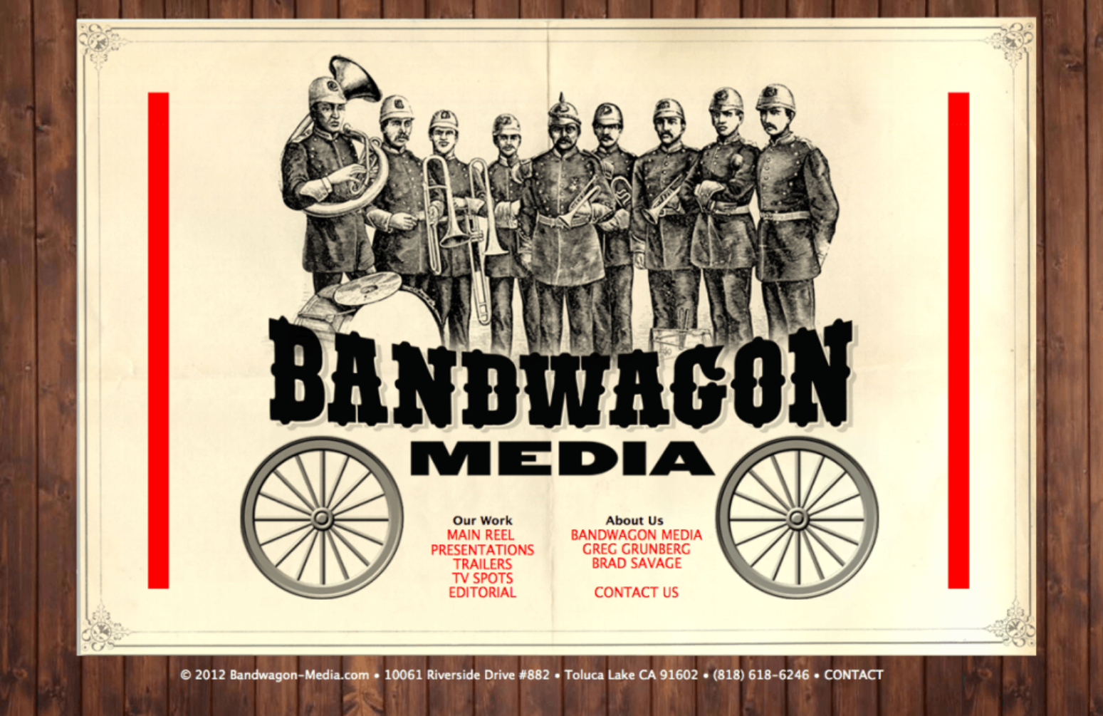 Bandwagon Media - Site development and design by Eric Scott / Day For Night.