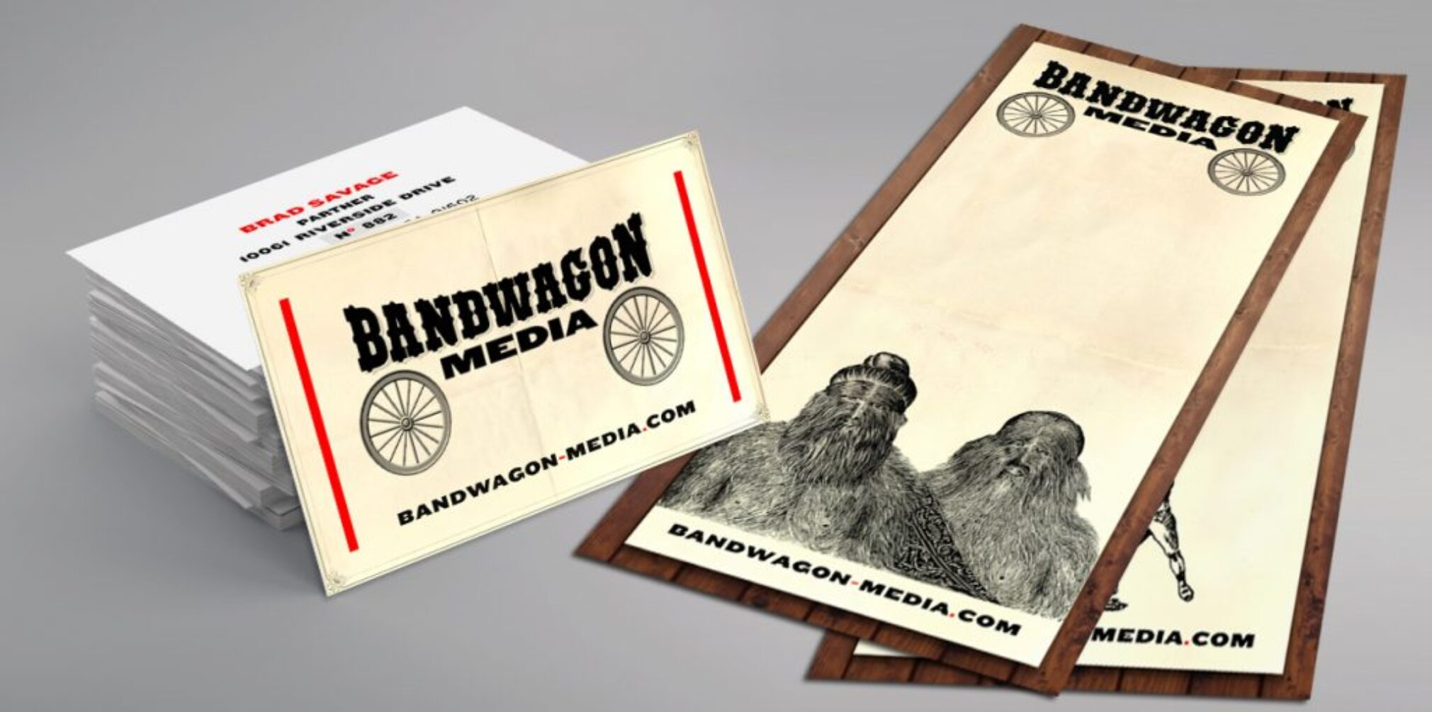 Bandwagon Media : Brand strategy, Logo and Identity Development by Day For Night.