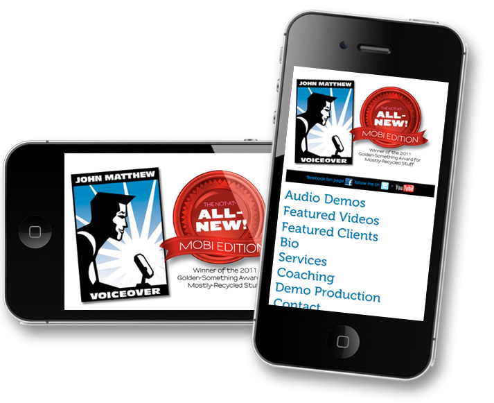 John Matthew.com - VoiceOver. Mobile site.