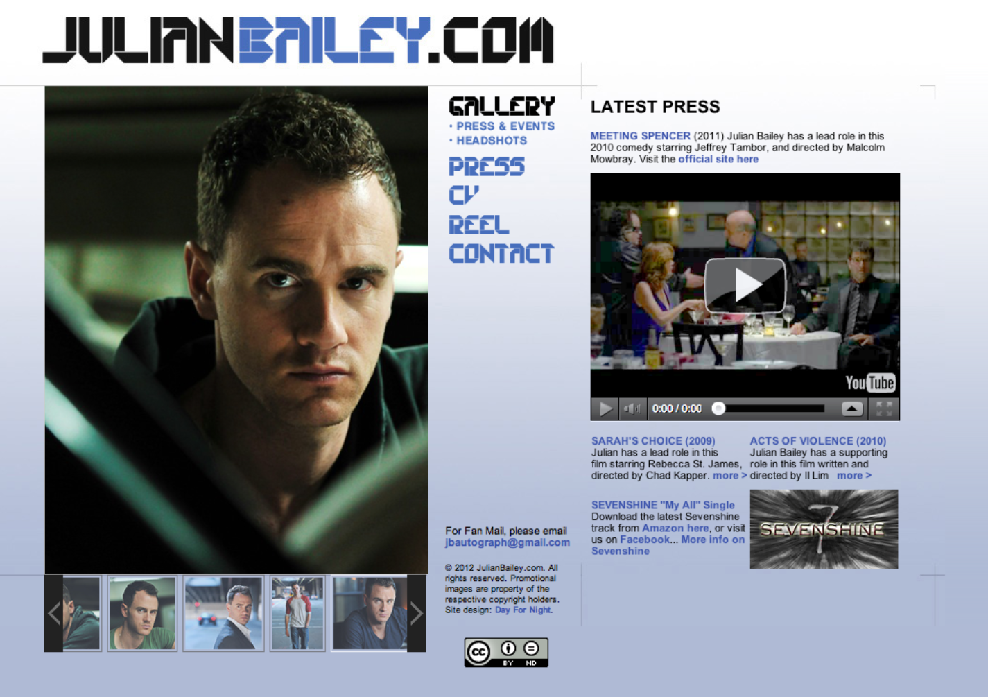 Screen Comp from JulianBailey.com - Official site for actor and musician Julian Bailey.