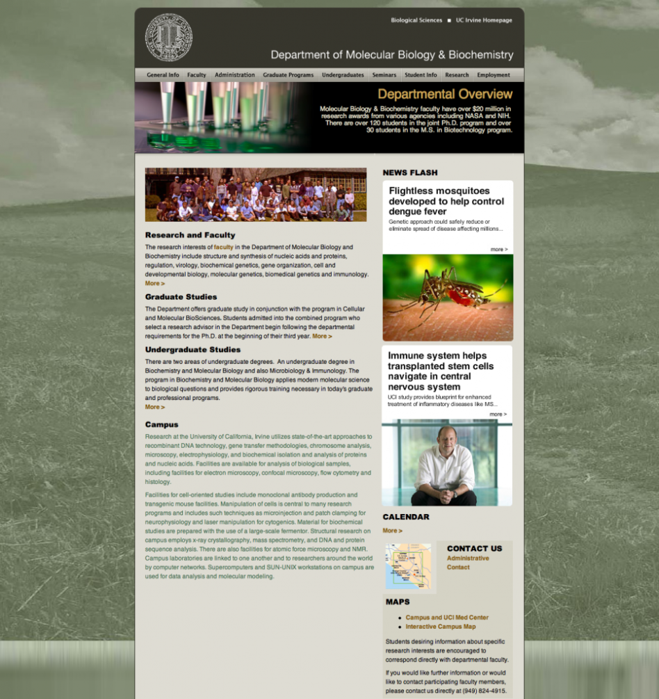 UC Irvine Molecular Biology & Biochemistry