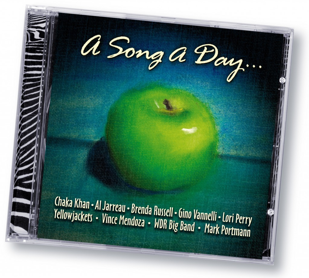 "Various Artists ""A Song A Day"" (Zebradisc) - Art Direction and Design by Eric Scott (Day For Night) in association with WorldWest Communications"