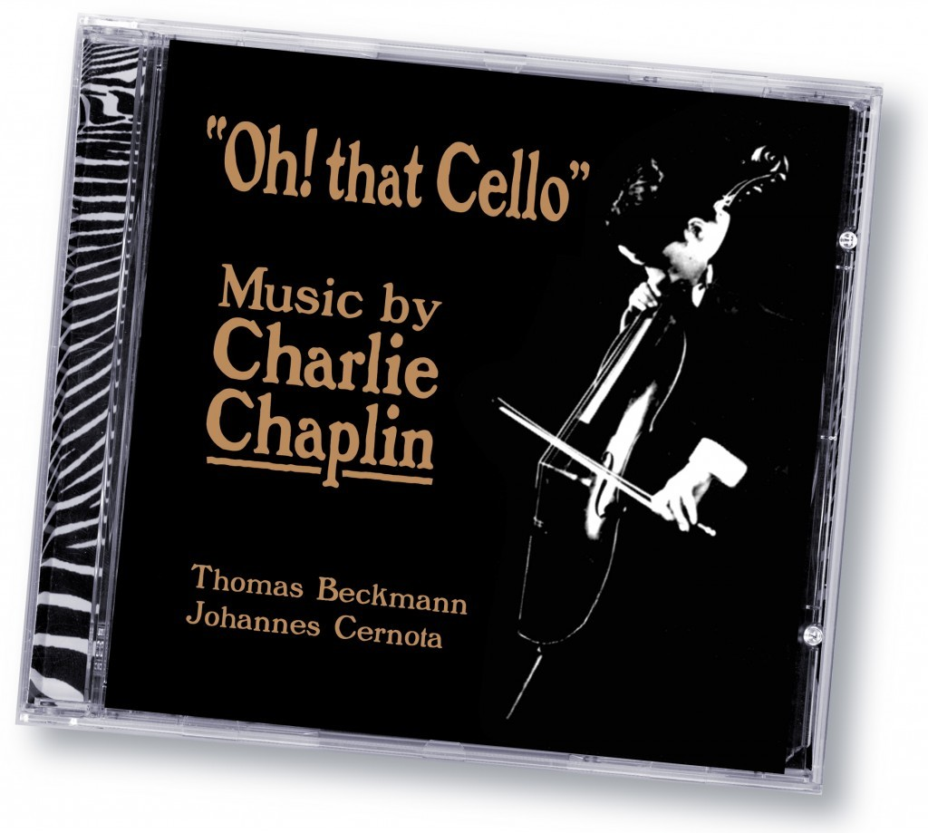"Music by Charlie Chaplin ""Oh! That Cello"" (Zebradisc) - Art Direction and Design by Eric Scott (Day For Night) in association with WorldWest Communications"
