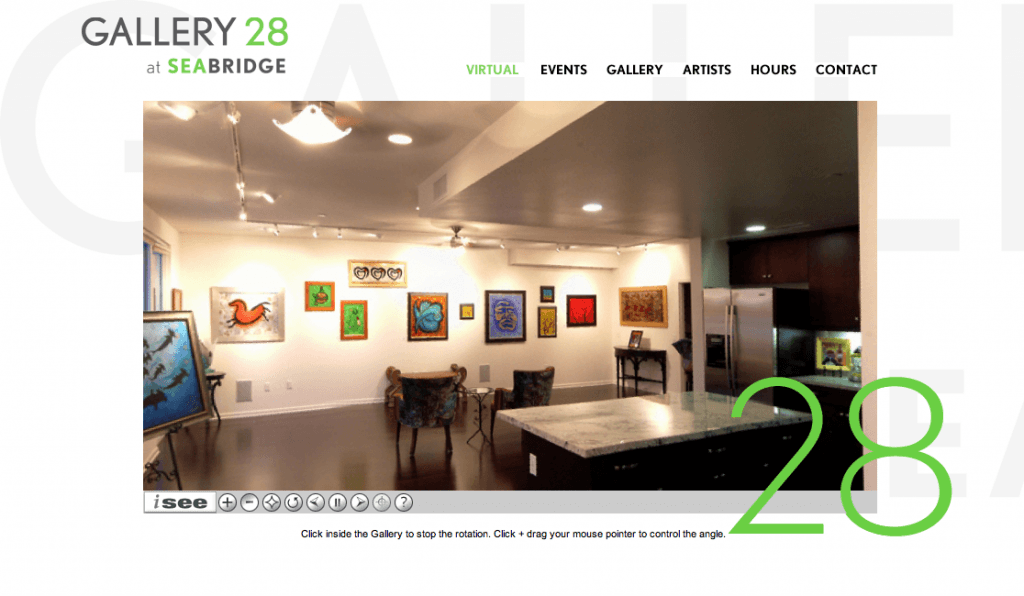 Gallery 28 at Seabridge - Branding and identity development and teaser site launch by Eric Scott (Day For Night)