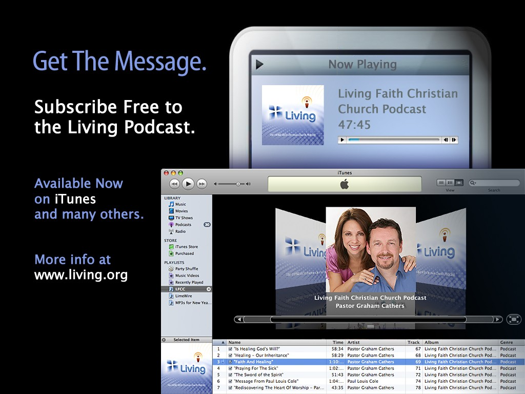 This podcast graphic, for display between services on the large screens in the sanctuary were ironically the first step in developing much of the new identity. Sometimes the look and feel of a piece sets the tone for more much of the development.