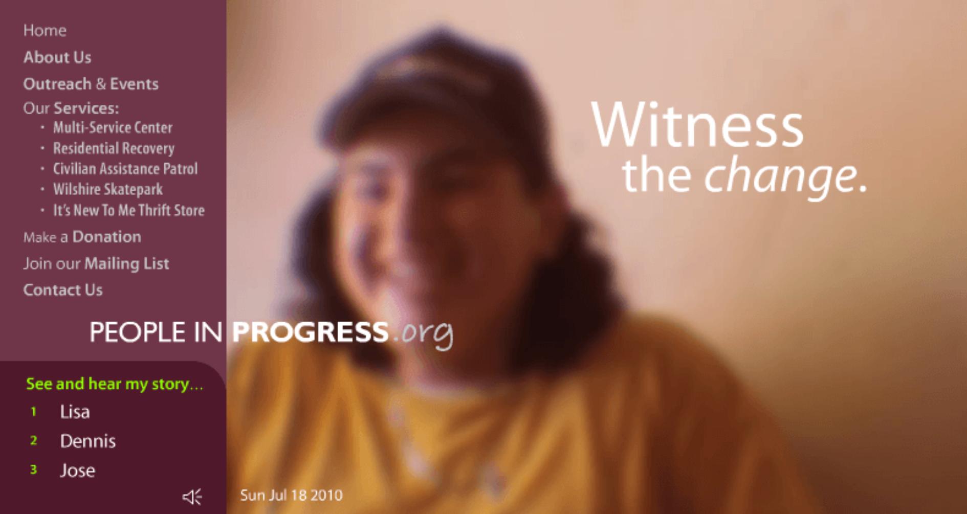 People In Progress.org Sitework