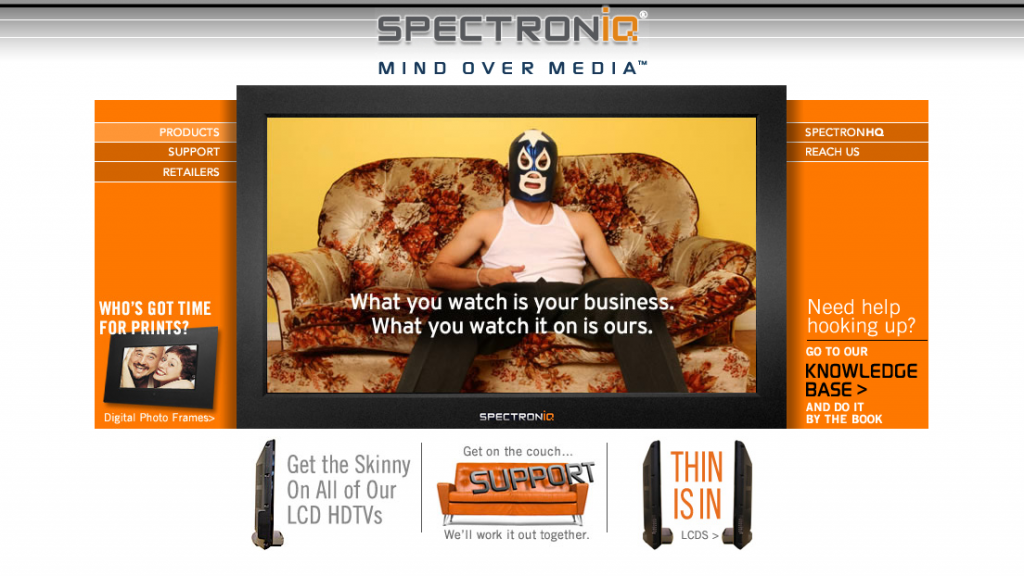 SpectronIQ - Site Design by Brian Peterson, Site Development & Programming by Eric Scott (Day For Night)