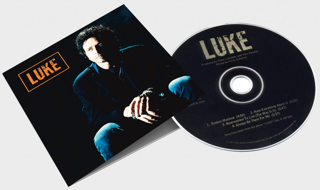 "Steve Lukather ""LUKE - Broken Machine (Sampler)"" CD packaging - Design & Art Direction by Eric Scott (Day For Night)"