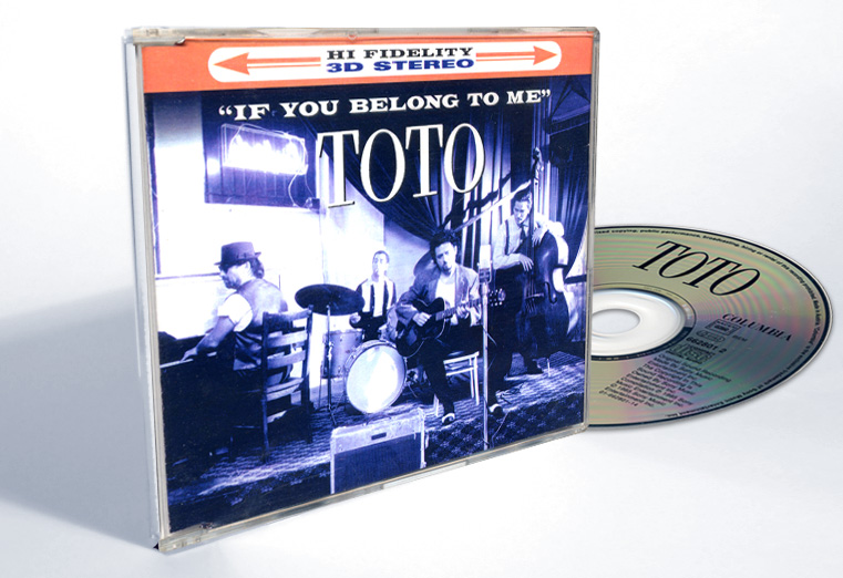 "Toto ""If You Belong To Me"" - CD-s release - Design & Art Direction by Eric Scott (Day For Night)"