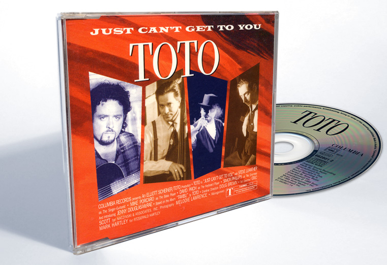 "Toto ""Just Can't Get To You"" - CD-s release - Design & Art Direction by Eric Scott (Day For Night)"