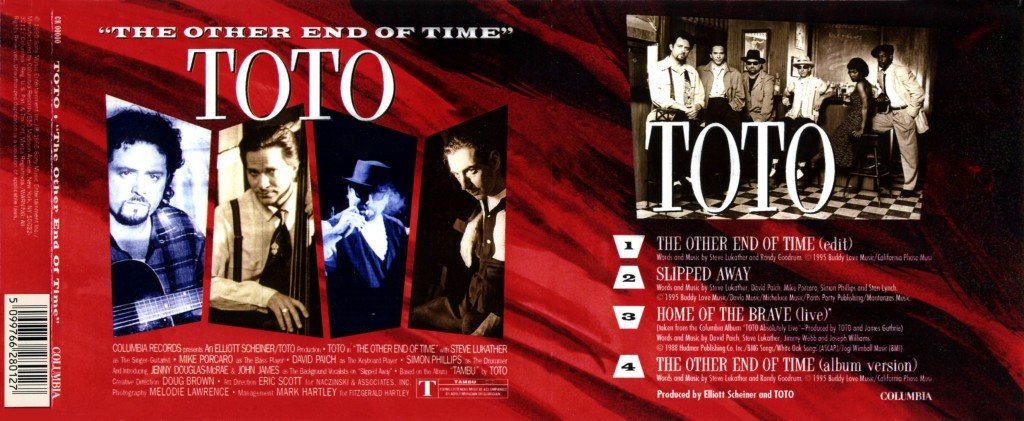 "Toto ""The Other End Of Time"" - CD-s release - Design & Art Direction by Eric Scott (Day For Night), Creative Direction by Doug Brown"