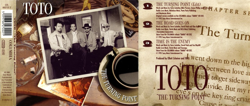 "Toto ""The Turning Point"" - CD-s release - Design & Art Direction by Eric Scott (Day For Night), Creative Direction by Doug Brown"