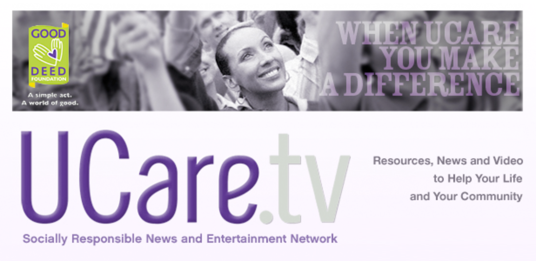 UCare.tv - Socially Responsible News and Entertainment Network - Branding, Custom Site Design and Development, Content Management System by Day For Night