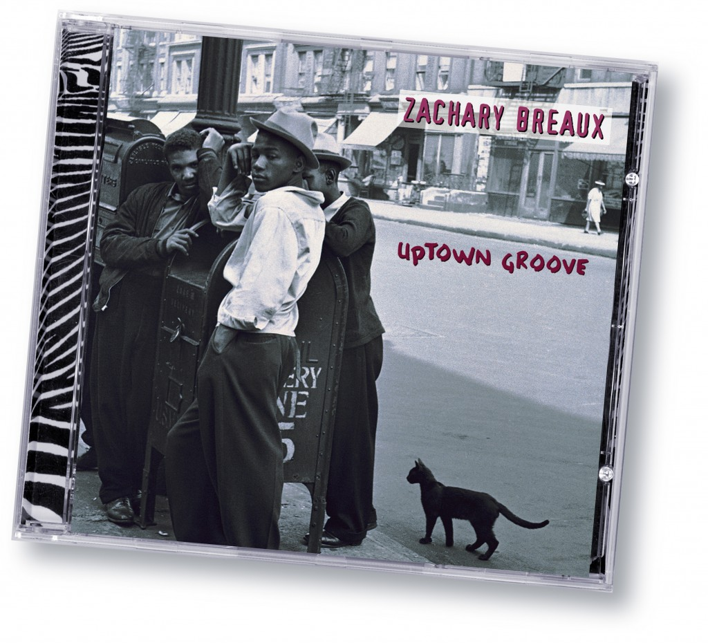 "Zachary Breaux ""Uptown Groove"" (Zebradisc) - Art Direction and Design by Eric Scott (Day For Night) in association with WorldWest Communications"