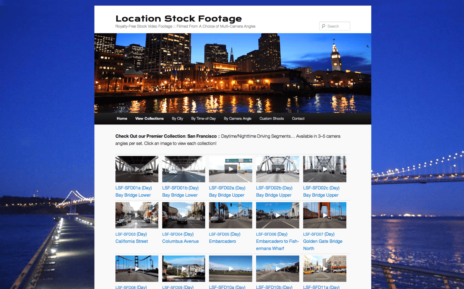 Location Stock Footage.com - Customized CMS Design for E-Commerce by Eric Scott (Day For Night)
