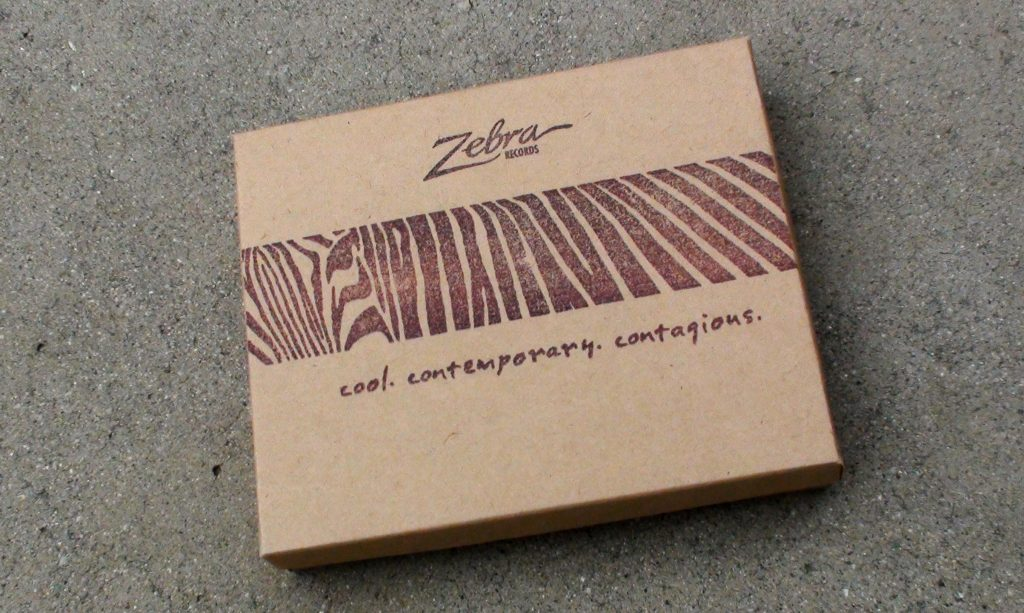 "Zebra Records ""Cool - Contemporary - Contagious"" box - Art direction & Design by Eric Scott (Day For Night) with Doug Brown"
