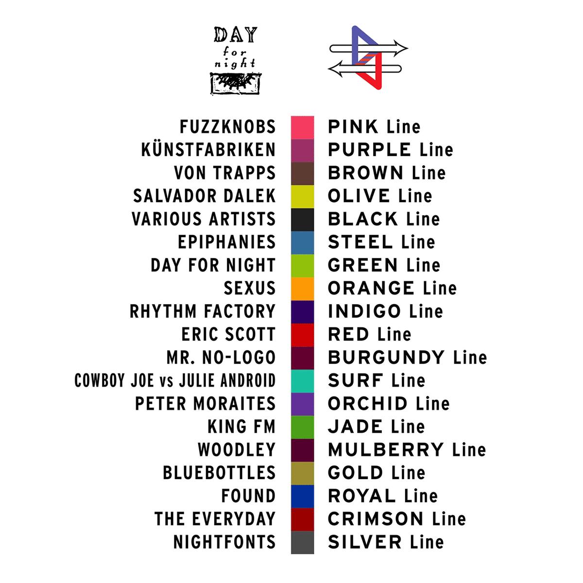 Kuler-Color-Bars---Color-Keys-Day-For-Night-Label-vs-NIGHTlinkRailway-Transit-Line-Network